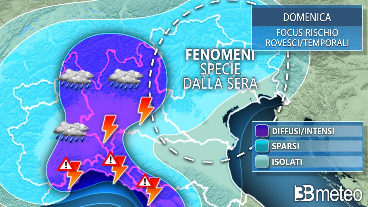 Previsioni meteo per oggi e domani in Italia