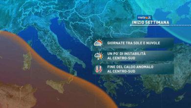 Photo of Meteo: tra oggi e domani finisce il caldo estivo al Sud