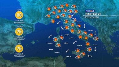 Photo of Meteo: oggi e domani le previsioni in Italia