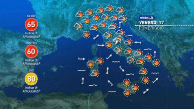 Photo of Meteo: previsioni del tempo per oggi e domani, 17 e 18 settembre