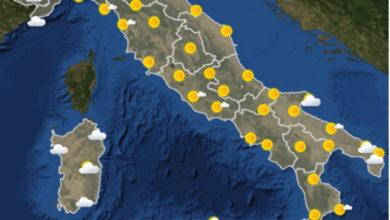 Photo of Meteoam: previsioni del tempo dal 7 al 12 settembre