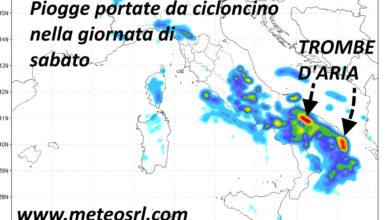 """Photo of Meteo: arriva il """"cicloncino"""" di settembre. Quante piogge!"""
