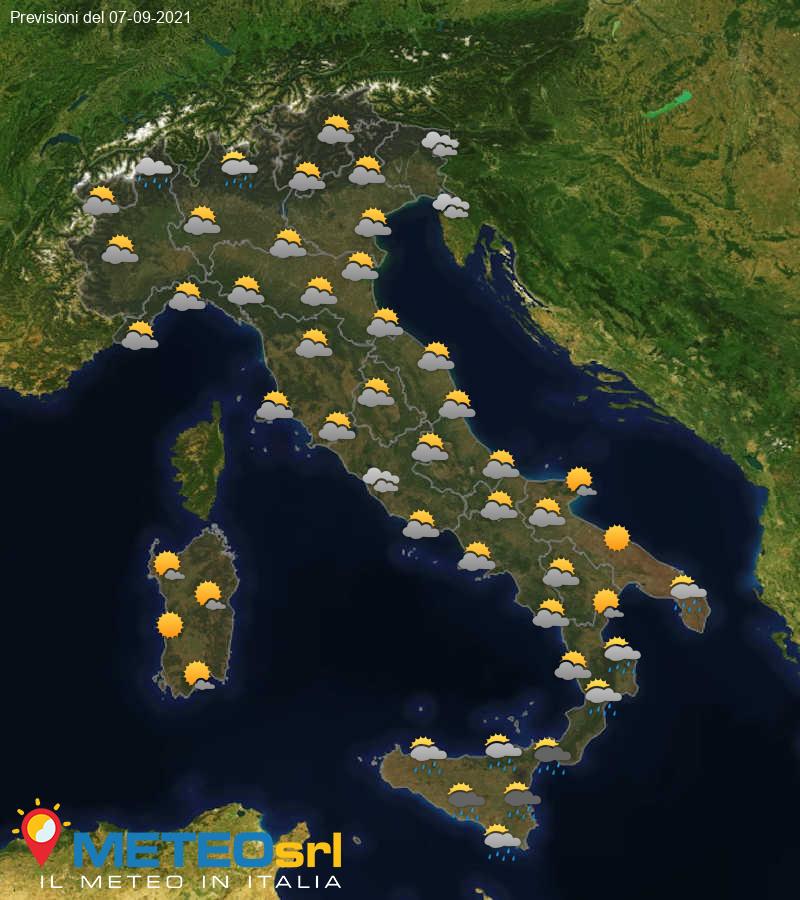 Previsioni Meteo Italia 07/09/2021