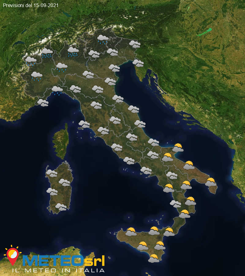 Previsioni Meteo Italia 15/09/2021