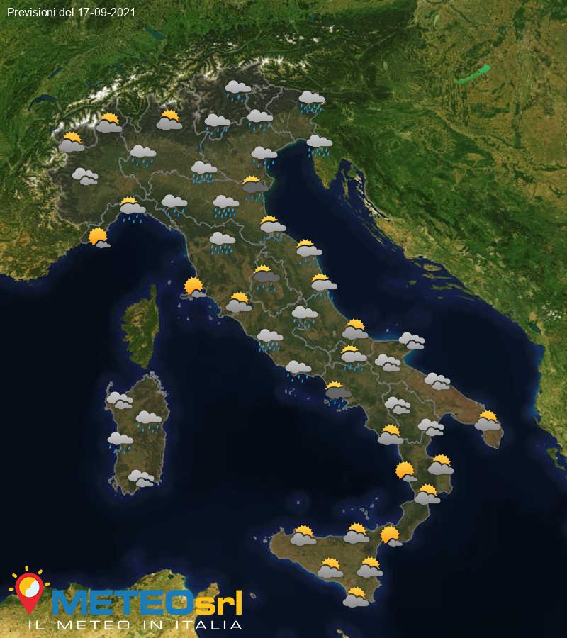 Previsioni Meteo Italia 17/09/2021