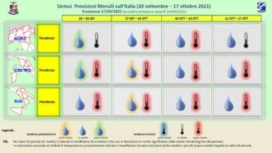 Photo of Meteo AM: previsioni lungo termine fino al 17 ottobre 2021