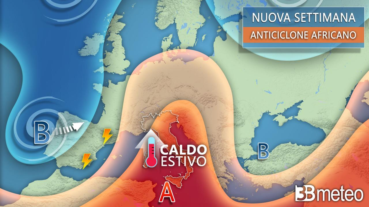 Le previsioni meteo oggi e per tutta la settimana