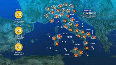 Photo of Previsioni meteo oggi e domani