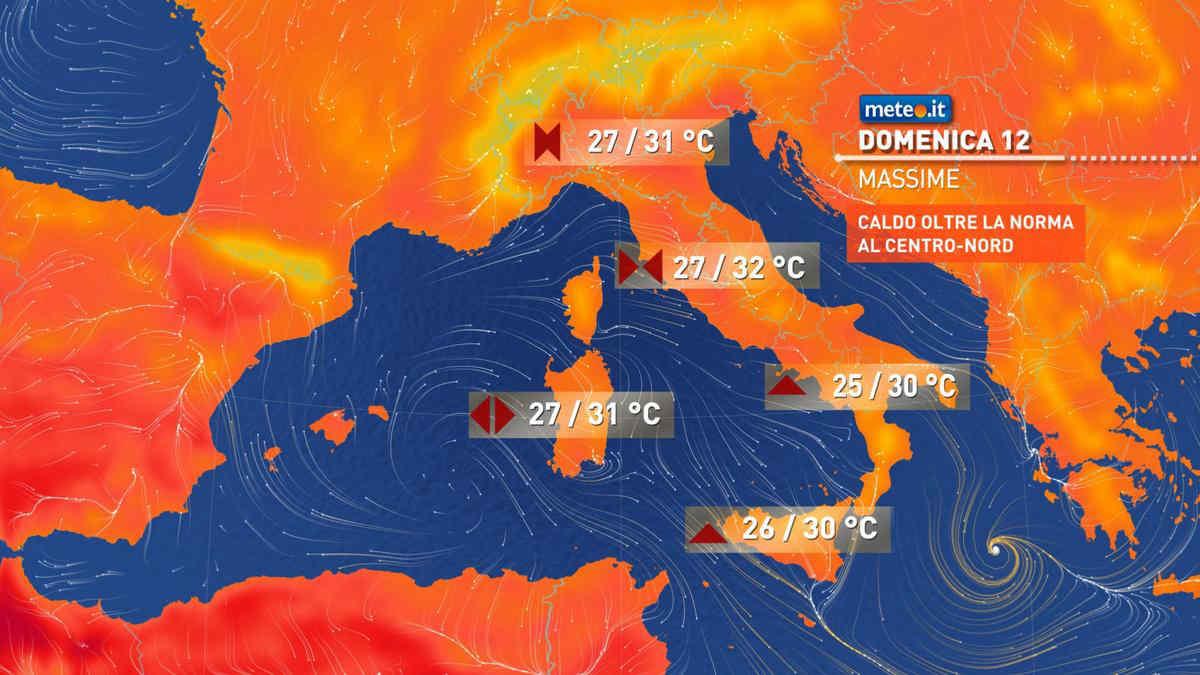 Previsioni meteo per oggi e domani