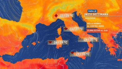 Photo of Previsioni meteo: il tempo di oggi e domani in Italia