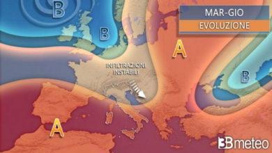 Photo of Meteo: oggi e domani instabilità diffusa con temporali e calo termico