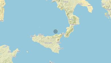 Photo of Terremoto Costa Siciliana nord-orientale (Messina) – Magnitudo (ML) 3.1