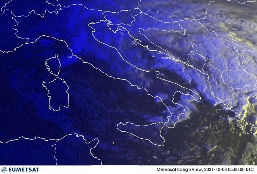 Previsioni Meteo Italia 08-10-2021