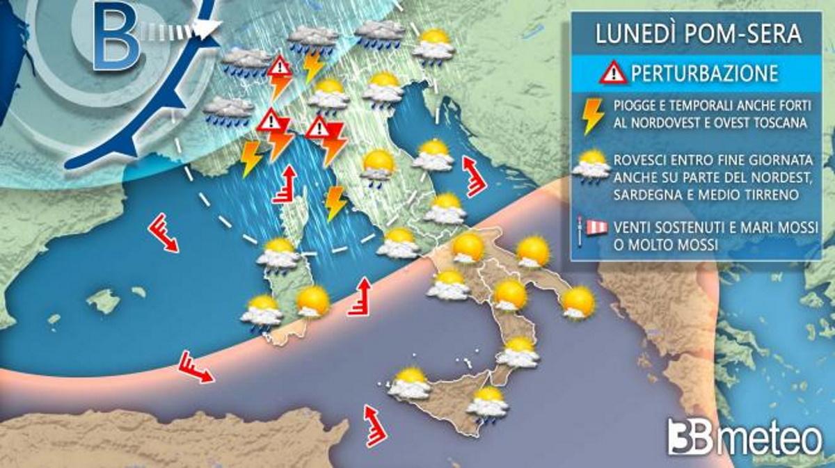 Previsioni meteo per la settimana