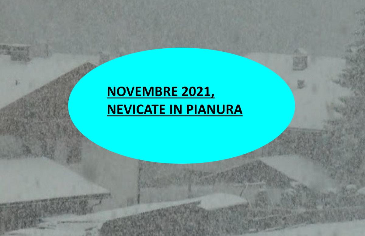 Previsioni meteo di Novembre 2021