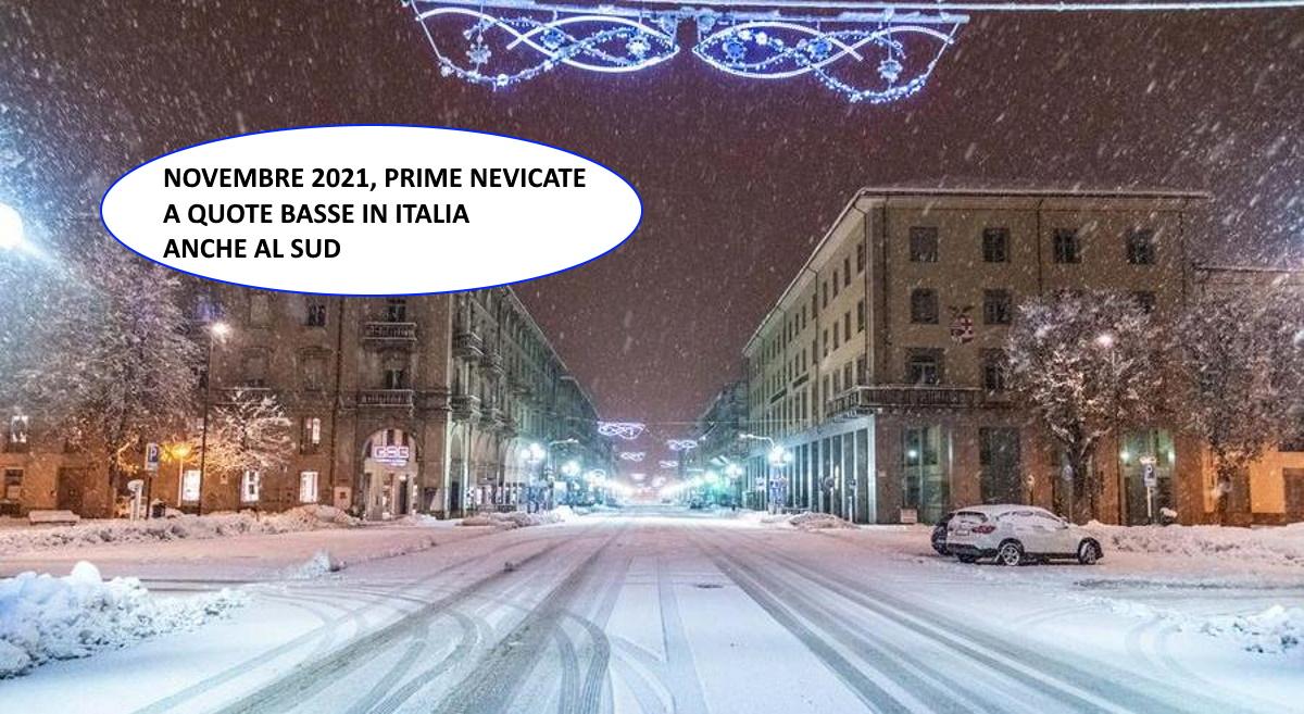 Il meteo per novembre 2021