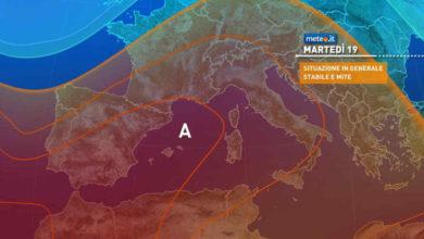 Photo of Meteo: previsioni per oggi e domani, 18 e 19 ottobre 2021