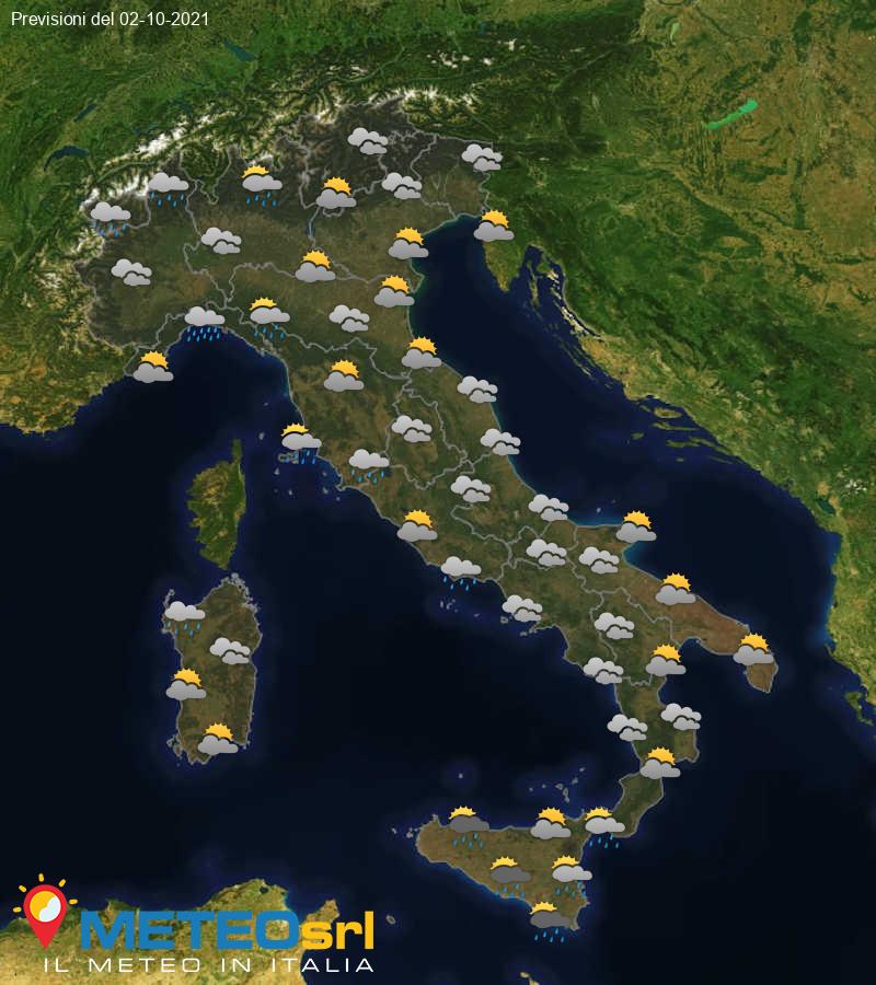 Previsioni Meteo Italia 02/10/2021