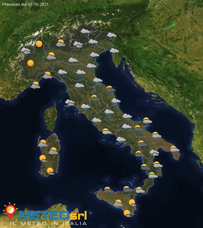 Previsioni Meteo Italia 07/10/2021