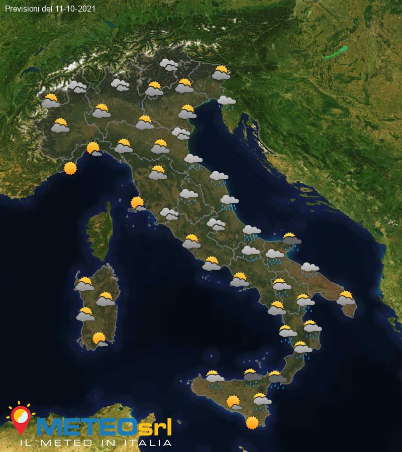 Previsioni Meteo Italia 11/10/2021