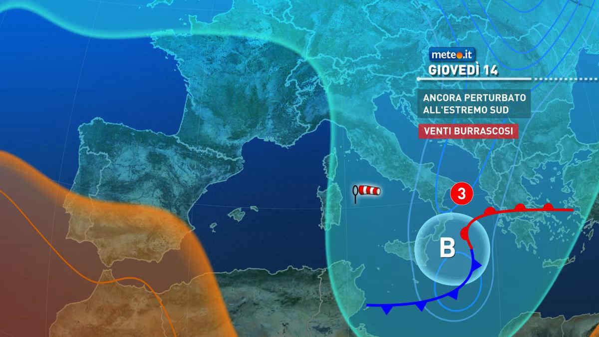 Correnti polari sull' Italia. Meteo invernale